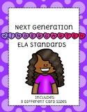 Kindergarten NEXT GENERATION ELA standards (purple bubbles)