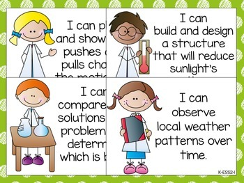 "Kindergarten NGSS ""I CAN"" Posters"