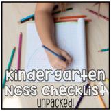 Kindergarten NGSS Next Generation Science Standards Checklist - UNPACKED