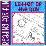 Kindergarten NO PREP Back to School Letter of the Day Packet RF.K.1d
