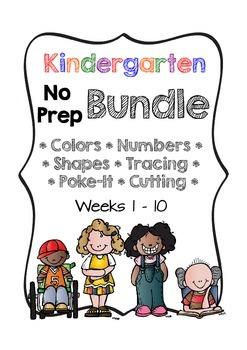 Kindergarten NO PREP Basics BUNDLE {Units 1 - 10}