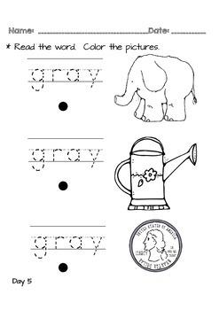 Kindergarten NO PREP Basics {Week 10}