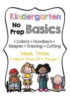 Kindergarten NO PREP Basics {Week 3}