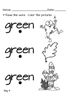 Kindergarten NO PREP Basics {Week 4}