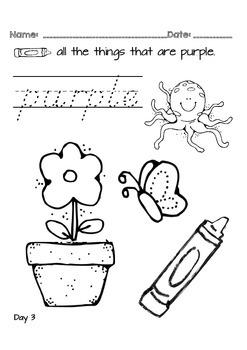 Kindergarten NO PREP Basics {Week 6}