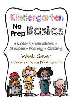 Kindergarten NO PREP Basics {Week 7}