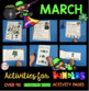 Kindergarten NO PREP March Ready To Teach Math and Literacy Activities