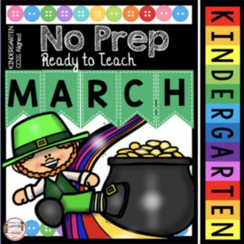 Kindergarten March Math And Ela Worksheets St Patricks Day