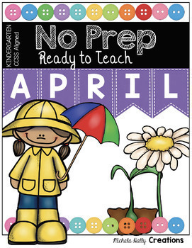 Kindergarten NO PREP Math and Literacy Pack Spring Bundle