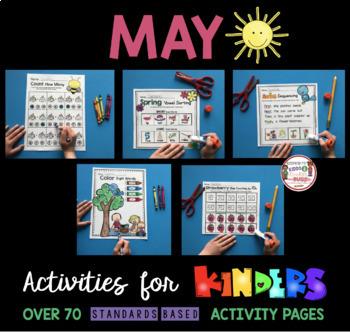 Kindergarten NO PREP - Ready to Teach Math & Literacy Activities - MAY