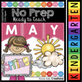 Kindergarten Math & Reading Activities - MAY - End of the