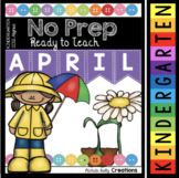 Easter Worksheets for Kindergarten - April No Prep Math and Reading Activities