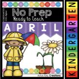 Easter Worksheets for Kindergarten - April No Prep Math and Reading - Digital