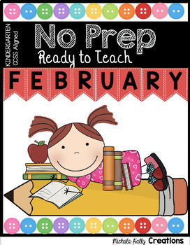 Kindergarten READY TO TEACH  Math and Literacy Pack - Winter Bundle - Worksheets