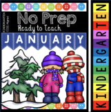 Kindergarten READY TO TEACH Pack - January Math and Literacy Worksheets