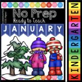 Snowman Math and Reading Activities - Winter Worksheets - Kindergarten No Prep