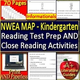 Kindergarten NWEA MAP Reading Test Prep Practice Tests RIT Bands 161 - 180