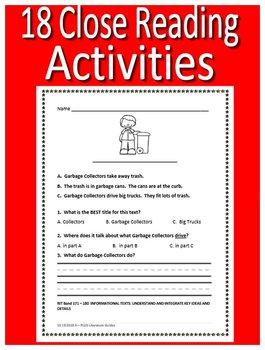 Kindergarten NWEA MAP Reading Test Prep Practice Tests RIT Bands 161 - 180