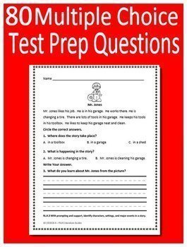 Kindergarten NWEA MAP Primary Reading Test Prep Narrative AND Informational