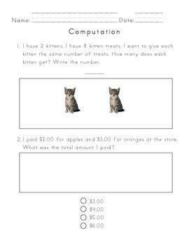 Kindergarten NWEA Math Test Prep Worksheets Print and Go | TpT
