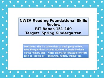 Kindergarten NWEA Primary Reading Foundational Skills