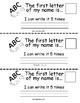 Kindergarten Name Book