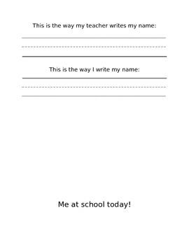 Kindergarten Name Practice
