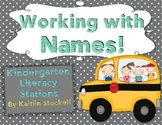 Kindergarten Name Puzzles & Games for Literacy Stations!