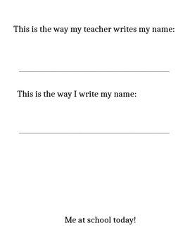 Kindergarten Name Writing