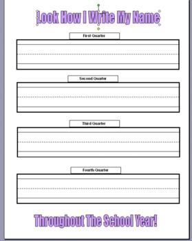 Kindergarten Name Writing Assessment