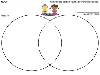 Kindergarten Name practice- compare and contrast name activity