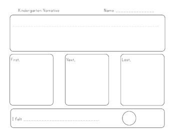 Kindergarten Narrative Graphic Organizer Common Core