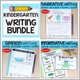 Kindergarten Narrative Opinion Informative Writing and Centers Bundle
