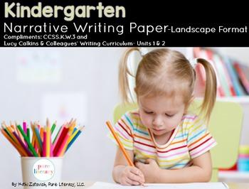 Kindergarten Narrative Writing Paper Pack {Lucy Calkins Inspired}