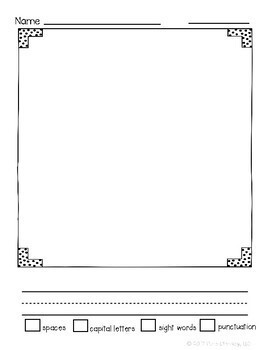 Kindergarten Narrative Writing Paper Pack- Portrait Edition