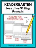 Kindergarten Narrative Writing Prompts For Differentiation