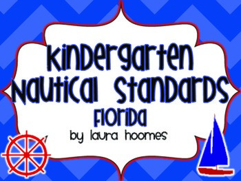 Kindergarten Nautical Standards COMMON CORE Florida