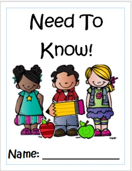 Kindergarten Need To Know Book