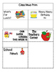 Kindergarten EDITABLE ClassRoom Newsletter:  Our Week at a Glance