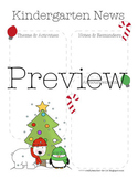 Kindergarten Newsletter Template, Christmas Theme