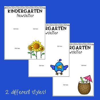 Kindergarten Newsletter Templates