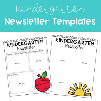 kindergarten newsletter templates by one kreative kindergarten tpt