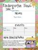 Kindergarten Newsletter Templates with Home Activities