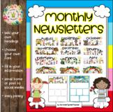 Kindergarten Newsletters (Editable)