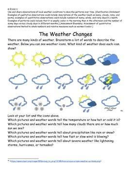 Kindergarten Next Generation Science Close Read Text