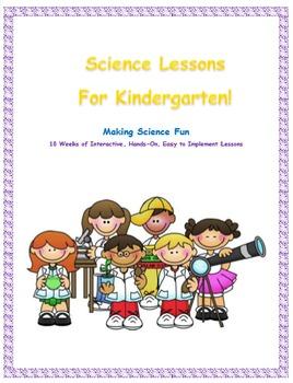 Next Generation Science Kindergarten-Complete Year Lessons Bundled