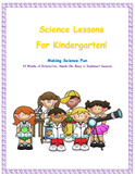 Next Generation Science Kindergarten-Complete Year Lessons