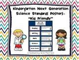 "Kindergarten Next Generation Science Standards Posters- ""Kid Friendly"""