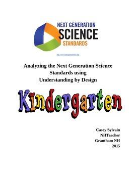 Kindergarten NGSS Understanding by Design Unit Planning