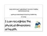 Kindergarten Next Generation Sunshine State Standards for Health Literacy